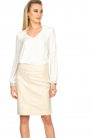 STUDIO AR BY ARMA |  Leather skirt Carly | natural  | Picture 2