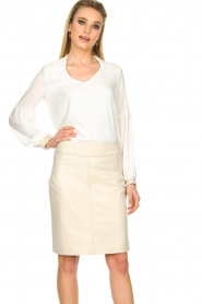 STUDIO AR BY ARMA |  Leather skirt Carly | natural  | Picture 4