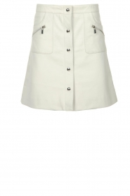 STUDIO AR BY ARMA |  Leather skirt Lys | white   | Picture 1