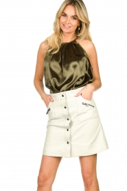 STUDIO AR BY ARMA |  Leather skirt Lys | white   | Picture 2
