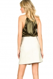 STUDIO AR BY ARMA |  Leather skirt Lys | white   | Picture 6