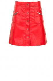 STUDIO AR BY ARMA |  Leather skirt Lys | red  | Picture 1