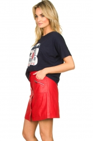 STUDIO AR BY ARMA |  Leather skirt Lys | red  | Picture 4