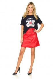 STUDIO AR BY ARMA |  Leather skirt Lys | red  | Picture 3