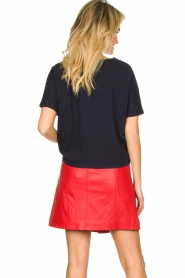 STUDIO AR BY ARMA |  Leather skirt Lys | red  | Picture 5
