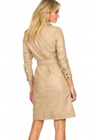 STUDIO AR BY ARMA |  Leather button down dress Diana Ross | brown  | Picture 6