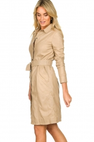 STUDIO AR BY ARMA |  Leather button down dress Diana Ross | brown  | Picture 5