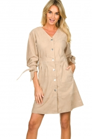 STUDIO AR BY ARMA | Suede dress Chemene | natural  | Picture 2