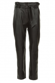 STUDIO AR BY ARMA |  Leather paperbag pants Claire | black  | Picture 1