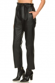 STUDIO AR BY ARMA |  Leather paperbag pants Claire | black  | Picture 4