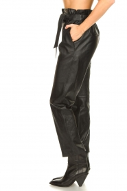 STUDIO AR BY ARMA |  Leather paperbag pants Claire | black  | Picture 5