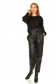 STUDIO AR BY ARMA |  Leather paperbag pants Claire | black  | Picture 3