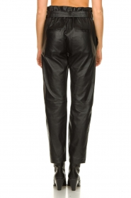 STUDIO AR BY ARMA |  Leather paperbag pants Claire | black  | Picture 6