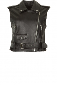 STUDIO AR BY ARMA |  Leather waistcoat Moon | black  | Picture 1