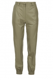 STUDIO AR BY ARMA |  Leather pants Peyton | green  | Picture 1