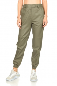 STUDIO AR BY ARMA |  Leather pants Peyton | green  | Picture 5