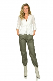 STUDIO AR BY ARMA |  Leather pants Peyton | green  | Picture 2