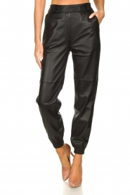 STUDIO AR BY ARMA |  Leather pants Peyton | black  | Picture 4