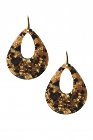 Miccy's |  Earrings XIV | brown  | Picture 1