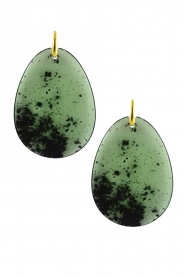 Miccy's |  Earrings Flat Drops | green  | Picture 1