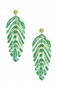 Miccy's |  Earrings Leaf | green  | Picture 1