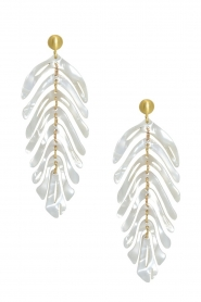 Miccy's |  Earrings Leaf | white  | Picture 1