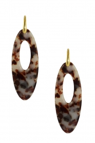 Miccy's |  Earrings Oval | brown  | Picture 1