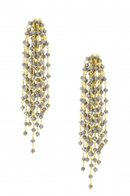 Miccy's |  Earrings with Swarovski crystals Edessa | grey