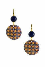 Miccy's |  Earrings Mop Pattern | blue  | Picture 1