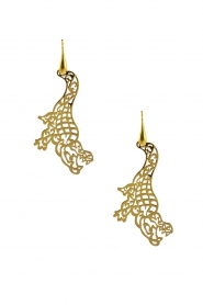 Miccy's |  Earrings Crocodiles | gold  | Picture 1