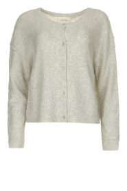 American Vintage |  Knitted buttoned cardigan Damsville | grey
