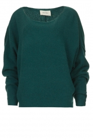American Vintage |  Sweater with boat neckline Damsville | green  | Picture 1