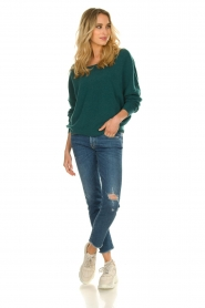 American Vintage |  Sweater with boat neckline Damsville | green  | Picture 3