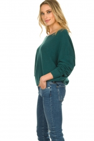 American Vintage |  Sweater with boat neckline Damsville | green  | Picture 4