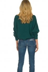 American Vintage |  Sweater with boat neckline Damsville | green  | Picture 5