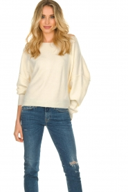 American Vintage |  Sweater with boat neckline Damsville | natural  | Picture 2