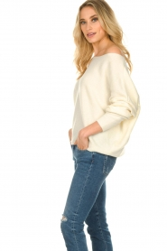 American Vintage |  Sweater with boat neckline Damsville | natural  | Picture 4