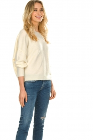American Vintage |  Sweater with boat neckline Damsville | natural  | Picture 6