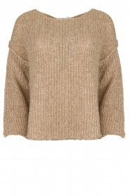 American Vintage |  Knitted alpaca mix sweater Piuroad | beige  | Picture 1