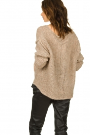 American Vintage |  Knitted alpaca mix sweater Piuroad | beige  | Picture 5