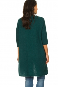 American Vintage |  Long cardigan from wool blend Vacaville | green  | Picture 5