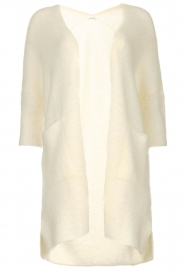 American Vintage |  Long cardigan from wool blend Vacaville | natural  | Picture 1