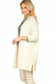 American Vintage |  Long cardigan from wool blend Vacaville | natural  | Picture 5