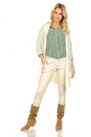 American Vintage |  Long cardigan from wool blend Vacaville | natural  | Picture 3
