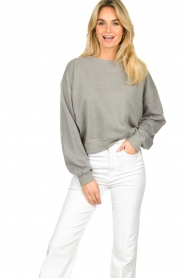 American Vintage |  Sweater with round collar Eliotim | grey   | Picture 2