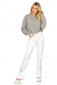 American Vintage |  Sweater with round collar Eliotim | grey   | Picture 3