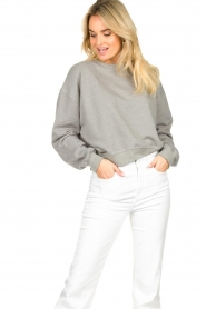 American Vintage |  Sweater with round collar Eliotim | grey   | Picture 4