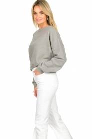 American Vintage |  Sweater with round collar Eliotim | grey   | Picture 5