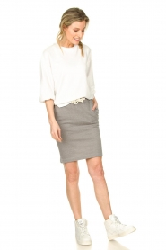 American Vintage |  Skirt with drawstring Eliotim | grey   | Picture 3
