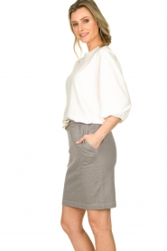 American Vintage |  Skirt with drawstring Eliotim | grey   | Picture 4